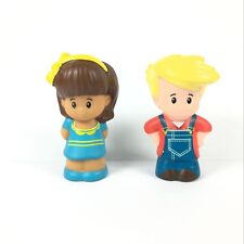 2x Fisher Price Little People Mia & Eddie Figure Kids Gift Toy