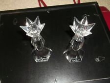 "Pair Marc Aurel Nachtmann Germany 6"" Crystal Candle Holders"
