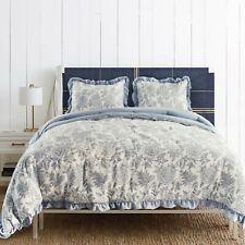 Kasentex Quilted Comforter Set -  Soft Chic Floral Printed Pattern Bedspread