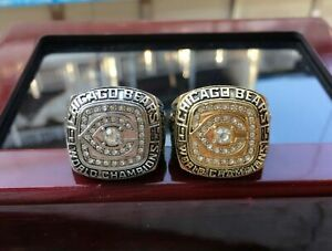 (2pcs) 1985 Chicago Bears World championship Ring --//