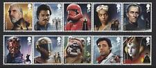 GREAT BRITAIN 2019 STAR WARS SET OF 10 IN TWO STRIPS,FINE USED
