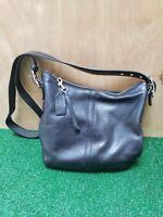 Coach Purse H2S-9326 Black Leather Legacy Handbag Bag Vintage Logo Lining