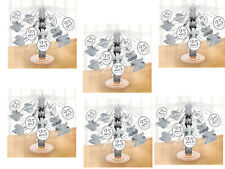 6 x Silver Wedding Cascading Table Centrepiece Party Decoration 25th Anniversary