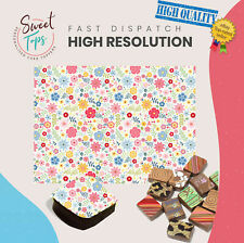 Chocolate Transfer Sheet (Flowers) Edible for Decorations A4 Size