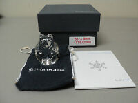 """STEUBEN CRYSTAL LTD. EDITION """"BEAR"""" FIGURAL HAND COOLER, SIGNED, NEW IN BOX"""