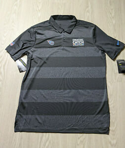 Nike Dri-fit Tennessee Titans Crucial Catch Men's Polo Shirt Size Large