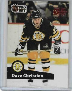 DAVE CHRISTIAN 2020-21 20-21 Leaf Memories Pro Set BUY BACK RED #1/1 Bruins