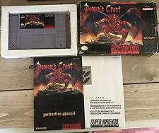Demons Crest Snes Super Nintendo Complete CIB Board Pictures Free Shipping