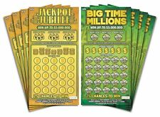 Prank Gag Fake Joke Lottery Tickets Lotto Scratch Off Cards 8 Tickets 4 of Each