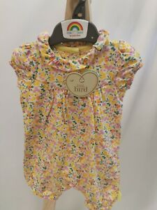 New JOOLS OLIVER Mothercare Baby Girls Romper Floral Shorts All In One Outfit