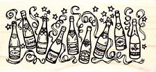 CELEBRATION BOTTLES - Wood Mounted Rubber Stamp - Personal Impressions