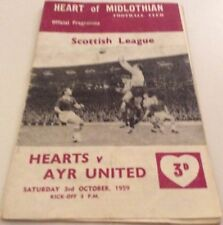 Ayr First Division Home Teams A-B Football Programmes