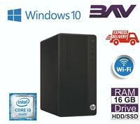 HP 290 MT Desktop PC Computer INTEL i3 i5 7th Gen 2TB HDD 8GB RAM HDMI WIN 10