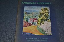 Tableaux modernes Me Etienne Ader 23 Juin 1960 Galerie Charpentier (E7)