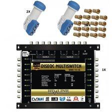 Multischalter 9/16 - 2 SATELLITEN / 8 Teilnehmer HDTV UHD 4K ✓ SAT Multiswitc