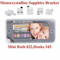 Dental Orthodontic Ceramic Monocrystalline Sapphire Brackets Braces Hooks 3-4-5