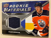 2020-21 UD Series 2 Rookie Materials #RM-TB Tyler Benson