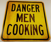 DANGER MEN COOKING CONSTRUCTION WARNING ROAD WAY STYLE HEAVY DUTY METAL ADV SIGN