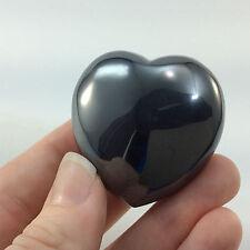Polished Hematite Heart 160701 41mm 3.9oz Anti Stress Stone Metaphysical