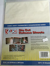 STIX2 A4 Die Cut RELEASE SHEETS x 10 Craft/ Calibur /Big Shot/ Card Making