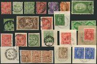 GB CHANNEL ISLANDS VILLAGE POSTMARKS 25 stamps 1920-1950