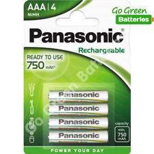 4 x Panasonic AAA 750 mAh Rechargeable Batteries RTU NiMH LR03 HR03 DC2400 Phone