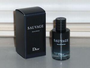 SAUVAGE by CHRISTIAN DIOR Men's EAU DE PARFUM, .34 oz, 10ml Miniature Splash NEW