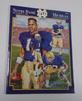 1990 Notre Dame vs Michigan Football Program