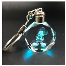 Disney mickey mouse Crystal Key Chain LED light Pendant KH28 NEW