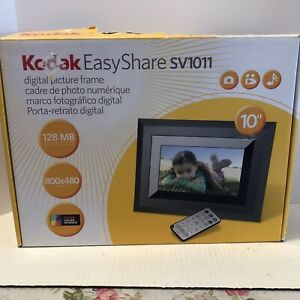 "KODAK EasyShare SV1011 DIGITAL PICTURE FRAME 128MB memory 10"" 800x480 pixels"