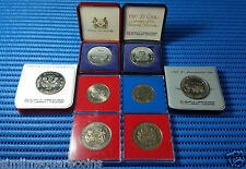 1981-1989 Singapore $5 Cupro-Nickel Commemorative Coin (Lot of 8 pieces)