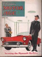 Chilton's Motor Age April 1955 Plymouth Hy-Drive Hook Art 100218ame