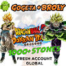 🌟 Android - Dokkan Battle - Gogeta AGL + Broly PHY 1000+ Dragon Stones - FRESH