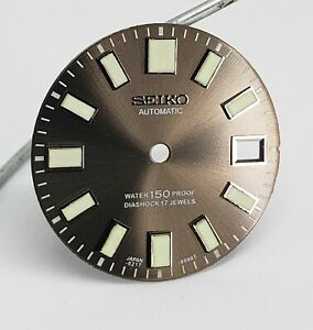 NEW AFTERMARKET DIAL / REPLACEMENT FOR 6217-8000 62MAS DIVER SUN BURST GRAY!!!