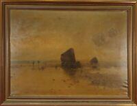 PAYSAGE. HUILE SUR TOILE. FRANCESC SANS CASTAÑO. XIX-XX SIÈCLE.