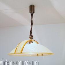 alte 60er J. Acryl Glas Design Decken Zug Lampe Pendelleuchte Hängelampe Ø 59 cm
