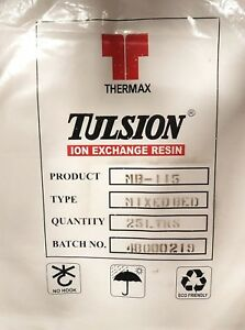 25L DI High Quality Tulsion MB-115 Resin Reverse Osmosis Deionization Aquati