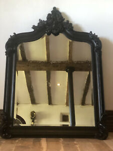 Heavy Quality Large French Scroll Black Wooden Bevelled Mirror 4ft NEW - No box