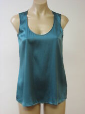 EILEEN FISHER Silk Stretch Soft V Neck Lgoon Tank Top XS XSmall NWT $168