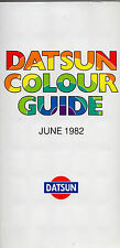 Nissan Datsun Exterior Colours 1982 UK Market Brochure Cherry Sunny Stanza 280C