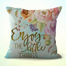 US Seller-cheap pillows and throws enjoy the little things flower cushion cover