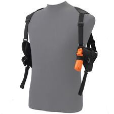 Tactical Left+Right Hand Gun Pistol Under Arm Shoulder Double Holster Bag Black