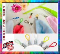 5 Pcs Tea Towel Hanging Clips Clip Hooks Loops Hand Towel Hangers Durable Loop