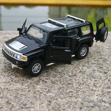 Hummer H3 Off-road Vehicles 1:32 Model Cars Toys Sound&Light Alloy Diecast Black