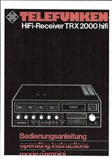 Telefunken Bedienungsanleitung für TRX 2000 hifi in deutsch