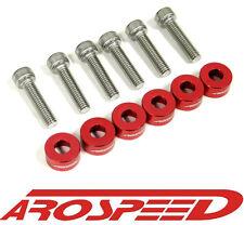 AROSPEED RED CNC BILLET 6MM VTEC SOLENOID BOLT & CUP WASHER KIT B/D/F/H