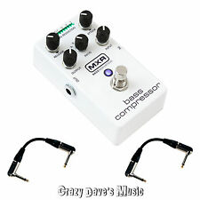Dunlop MXR Bass Compressor M87 Effects Pedal NEW w 2 Patch Cables