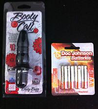Booty Call Buzz Silicone Anal Vibrator Probe Black Hot Sexy P-Spot Play Vibe