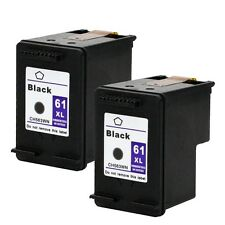 2PKs HP 61XL 61 XL Black CH563WN High Yield Ink Cartridges