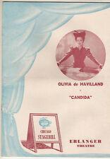 "Olivia de Havilland ""Candida"" Chicago Playbill 1952  George Bernard Shaw"